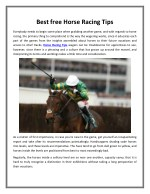 Best free Horse Racing Tips