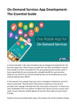 On-Demand Services App Development: The Essential Guide
