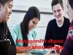 Management degree course managing the business world MIBM GLOBAL