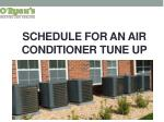 Schedule For An Air Conditioner Tune Up