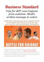 Vote for BJP, save Gujarat from casteism: Modi's written message to voters