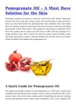 Pomegranate Oil – A Must Have Solution for the Skin