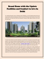 Brand Home with the Update Facilities and Comfort to Live In Delhi