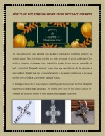 How to Select Sterling Silver Cross Necklace for Men?