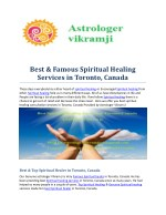 Best & Famous Spiritual Healing Services in Toronto, Canada