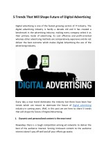 5 Trends That Will Shape Future of Digital Advertising
