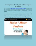 Learning Center: Providing Major/Minor projects for Students
