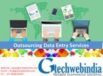 Outsourcing Data Entry Services Offered by Gtechwebindia