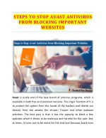 Steps To Stop Avast Antivirus From Blocking Important Websites