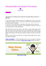 Online Scam Killer: Your Ultimate To The Internet