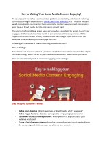 Key to Making Your Social Media Content Engaging!