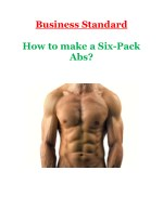 How to make a Six-Pack Abs?