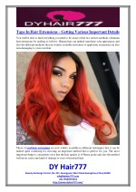 Tape In Hair Extensions – Getting Various Important Details