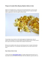 Things to Consider When Buying Vitamins Online in India
