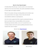 Meet Our Team Physiotherapist