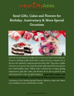Send Gifts, Cakes and Flowers for Birthday, Anniversary & More Special Occasions