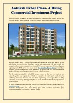 Antriksh Urban Plaza- A Rising Commercial Investment Project