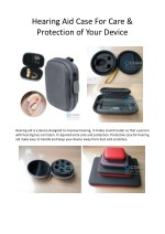 Hearing Aid Case For Care & Protection of Your Device
