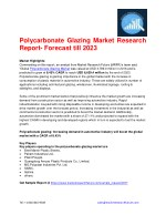 Polycarbonate Glazing Market Research Report- Forecast till 2023