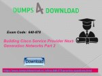 Get Updated Free Cisco 640-878 Exam Questions | Dumps4download.co.in