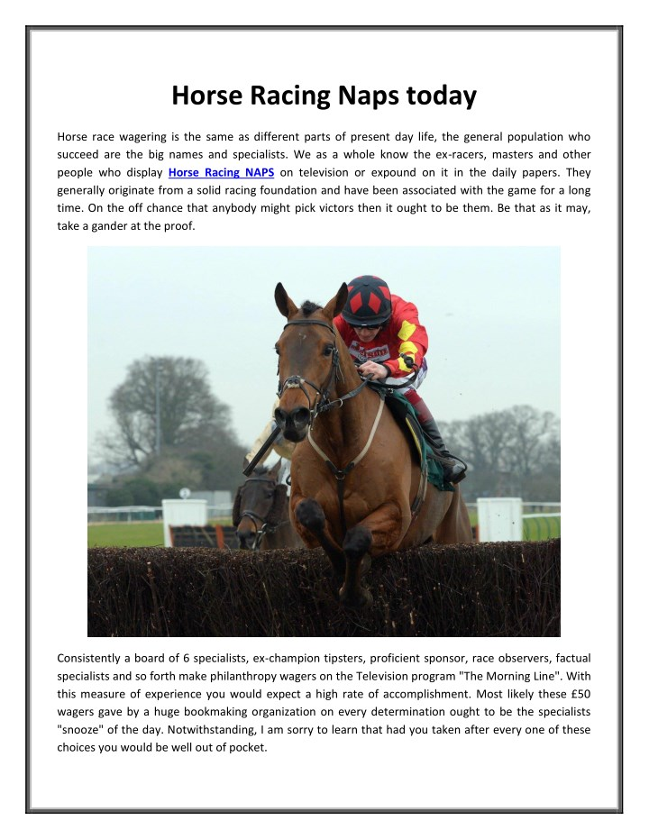 PPT - Horse Racing Naps today PowerPoint Presentation - ID
