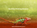 Business Printing Services - Chameleon Print Group