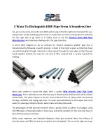 ERW Stainless Steel Pipes Manufacturers in Mumbai