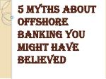 Why We Need an Offshore Bank Account?