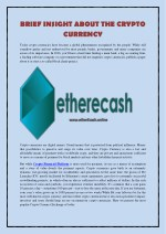 Brief Insight about the Crypto Currency
