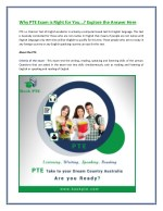Why PTE Exam is Right for You...? Explore the Answer Here