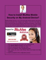 How to Install McAfee Mobile Security on My Android Device?