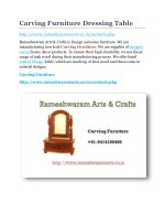 Carving furniture dressing table