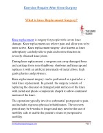 Exercise Require After Knee Surgery | Knee Replacement Surgeon | Dr.Anshu Sachdev