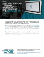 Efficient Airport Terminal Management System Using the S22 Panel PC