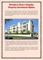 Dwarka L Zone a Popular Property Investment Option