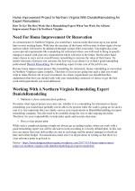 Home Improvement Project In Northern Virginia