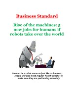 Rise of the machines: 5 new jobs for humans if robots take over the world
