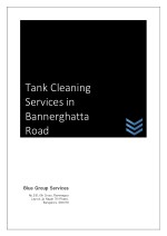 Tank Cleaning Services in Bannerghatta Road, Blue Group Service Bangalore