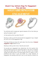 Should I buy Solitaire Rings For Engagement – Pros and Cons