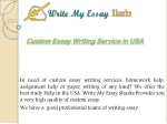 Custom Essay Writing Service in USA