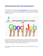 Jobs by Top Placement Consultants in India