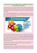 e-Commerce Strategy: Highly effective Guidelines to Improve your Product sales Online