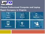Choose Professional Computer and Laptop Repair Company in Virginia