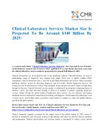 Clinical Laboratory Services Market Size Is Projected To Be Around $348 Billion By 2025