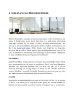 5 Reasons to Get Motorized Blinds
