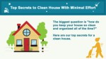 Top Secrets To Cleaning House With Minimal Effort