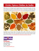 Order Spices Online in India