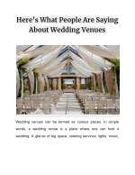 Here's What People Are Saying About Wedding Venues