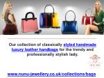 Handmade Luxury Leather Handbags Online UK – NuNu Jewellery
