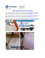 Carpet Cleaning Central Coast - Carpet Cleaning